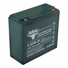 <b>Тяговый гелевый аккумулятор RuTrike</b> 6-DZM-20 (12V20A/H C2 ...