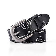 fashion fancy rhinestone diamond belts womens jeans belts black leather waist straps girl luxury shorts waistband female leisure belt leather belt jiu jitsu