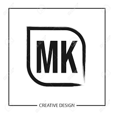 Mk Logo Design Vector Initial Letter Mk Logo Template Design