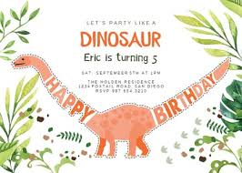 Dinosaur Birthday Invitation Dinosaur Birthday Birthday Invitation Template Free