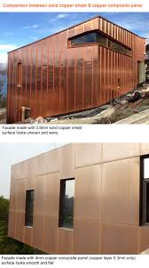 copper interior wall cladding panels