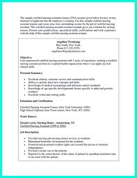 Resume For A Nursing Assistant Nice Impress The Employer With Great Certified Nursing Assistant 13