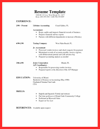 Basic Resume Sample basic resume samples good resume format 6