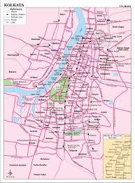 kolkata city map city map of kolkata with important places