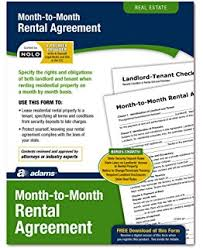 Amazon.com : Month-To-Month Rental Agreement Usa Do-It-Yourself ...