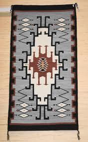 old style crystal navajo rug weaving by gloria hardy