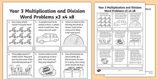 Image result for pictures of multiplication and division word problems
