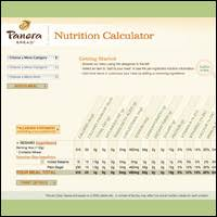 check out the nutrition calculator on the panera bread you can customize your order and get the exact stats panera also posts the nutritional info