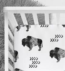 aztec crib sheet buffalo baby bedding
