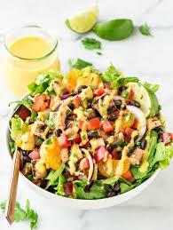 garden salad with chicken. Wonderful With Grilled Caribbean Chicken Salad With 5 Minute Mango Dressing U2013 Packed  Juicy Chicken Sweet With Garden H
