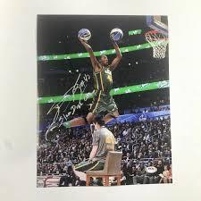 Autographed Jeremy Evans Photo - 11x14 PSA DNA Dunk Contest