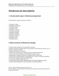 5-5 Job Description For A Warehouse Worker | Developersbestfriend.com