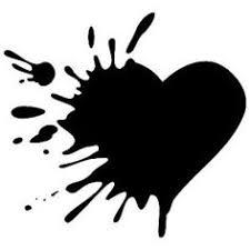 Výsledek obrázku pro black broken heart symbol