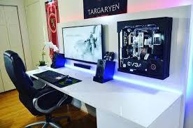impressive office desk setup. charming pc desk setup captivating pc gaming awesome home office furniture impressive n
