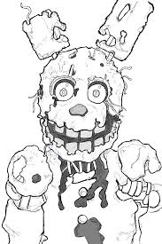 How To Draw Springtrap From Five Nights At Freddy S 3 Step By Step Five Nights At Freddys Coloring Book L