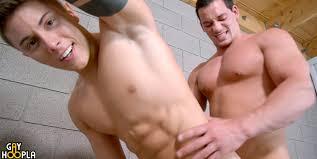 Muscle top Ryan Winter plows Sebastian Hook s ass at GayHoopla