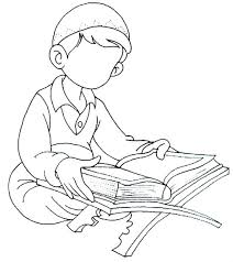 Small Picture Boy reading the Quran Islamic Coloring Book Pinterest Quran
