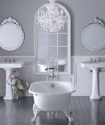 Grey and white bathroom floor tiles