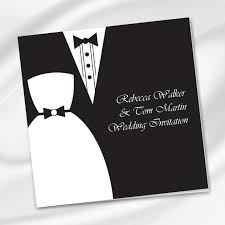 30 fabulous wedding invitations to suit every style of couple Wedding Invitations Listowel Kerry dress tux wedding invite wedding print ie wedding invitations listowel co kerry
