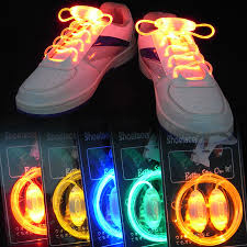 10 pairs colorful led flash light up shoe laces party disco shoes strap glow stick shoelaces multicolor party decoration new in underwear from mother kids