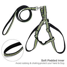 dog harness leash,zoto nylon padded reflective harness&leash set on different dog harnesses