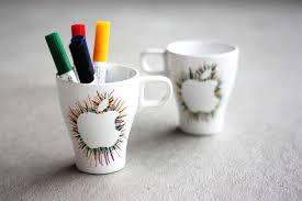 apple mug idea diy idea pencil holder mug