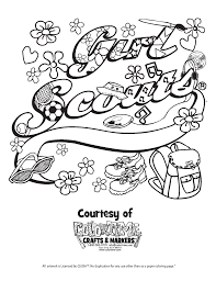 Girl Scout Promise Coloring Page Girl Scout Promise Coloring Page ...