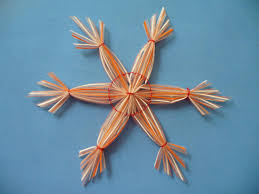 Christmas Crafts For Kids To Make Christmas Crafts Snowflakes With Plastic Straws Scissors Craft