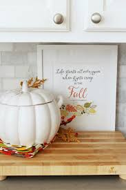 Easy Fall Kitchen Decorating Ideas - Clean and Scentsible