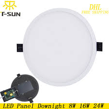 Us 9266 18 Off10 Stuks Pack Ultra Dunne Led Downlight Opbouw Panel Lamp Led Plafond Downlight Ronde Vorm Voor Home Verlichting Ac85 265v In 10