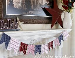 Fabric banners diy Decor Diy Fabric Banners By Blooming Homestead Blooming Homestead Diy Patriotic Banner Blooming Homestead