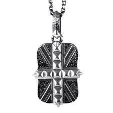 stephen webster alchemy in the uk mens sterling silver dog tag pendant necklace
