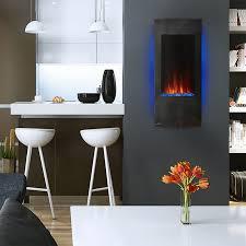 napoleon azure vertical 38 wall mount electric fireplace nefv38h