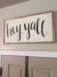 Nashville Sign Decor Hey Yall Sign Home Decor Hand Painted Sign by SalvagedChicMarket 14