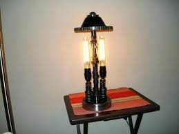 car table lamp made from used engine parrcycle hub duel bulbs vintage classic riviera