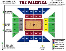 The Palestra Seating Chart Penn Alumni Penn Womens Basketball 2004 2014 Ivy League
