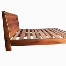 buy a custom made modern reclaimed wood bed made to order from