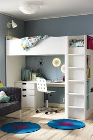 the ikea stuva loft bed with desk and storage is the perfect kids bedroom set up a desk for homework plenty of storage and a cool loft