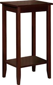 amazoncom set of  rosewood tall end tables coffee brown