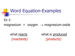 word equations chemistry worksheet together with 2 3 types of chemical reactions p word equation a