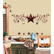 new stars berries wall decals country kitchen stickers rustic