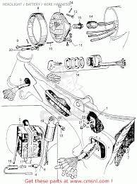 honda ca110 1962 usa headlight battery wire harness headlight battery wire harness schematic