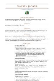 Computer Operator B Resume samples