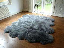 costco sheepskin rug s hides sheep grey cleaning