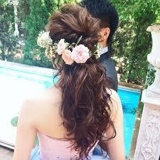 Weddinghair お色直し カラードレス カクテルドレス お色直し