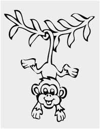 Free Printable Monkey Coloring Pages Pleasant Hanging Monkey
