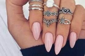Almond Nails Baby Pink Cred Okchicas Acrylic Arttonail
