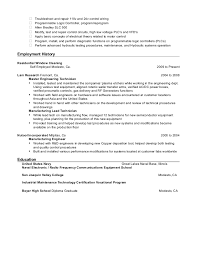 Electronic Equipment Repairer Resume Custom Jamie Barlow Industrial Electrician Resume