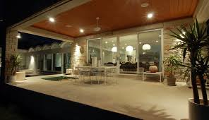 covered patio lights. Modern Covered Patio Ideas With Outdoor Dining Concrete Paving Lighting Lights E
