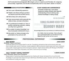 Sample Resume Bartender Great Examples Of Cover Letters Great
